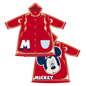 Arditex regenjas Mickey Mouse junior PVC rood