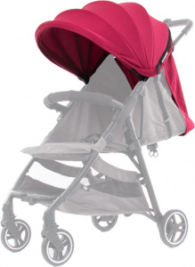 Baby Monsters kinderwagenkap Kuki textiel bordeaux