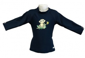 Banz shirt Rash met lange mouwen jungle junior navy 76 cm