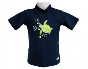 Banz shirt Rash met korte mouwen junior turtle navy 76 cm
