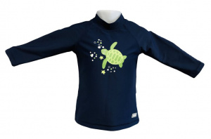 Banz shirt Rash met lange mouwen junior turtle navy 76 cm