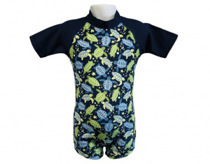 Banz swimsuit UV resistant navy turtle