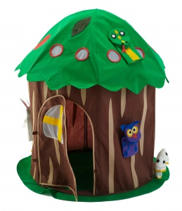 Bazoongi Kids play tent Doll tree 102 x 137 cm brown/green