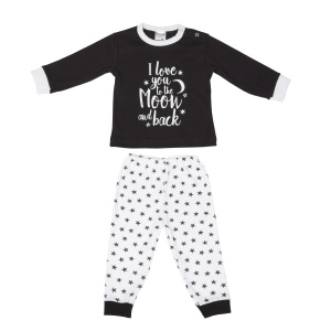 Beeren baby sleepsuit black/white