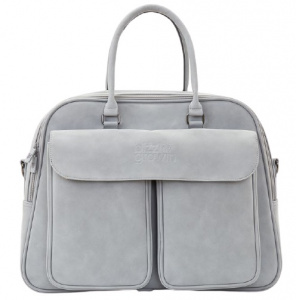 Bizzi Growin carrycot/ diaper bag POD 48 x 77 cm artificial leather grey