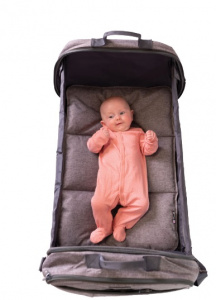 Bizzi Growin carrycot POD Travel 48 x 77 cm cotton/linen grey