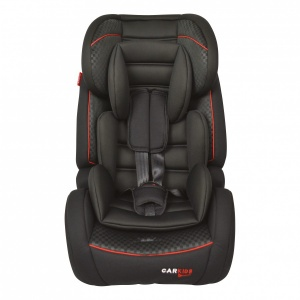 Carkids car seat group 1/2/3 Isofix black / red