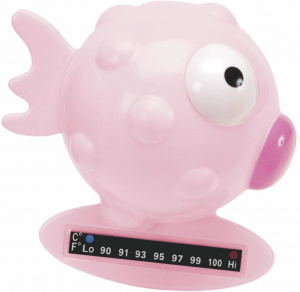 Chicco badthermometer vis junior 9 cm roze