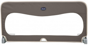 Chicco side rail 95 cm textile/steel brown/white