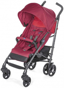 Chicco buggy Lite Way 3 aluminium 105 cm rood 2-delig