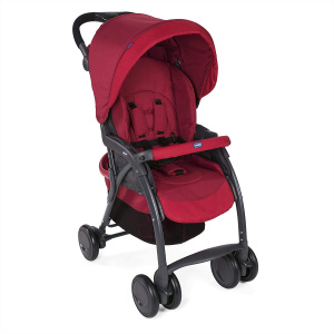Chicco buggy Simplicity Top 102 cm polyester/aluminium rood/zwart