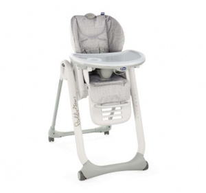 Chicco high chair Polly2 Start 110 cm steel grey
