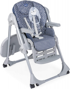 Chicco high chair Polly Easy Penguin 104 x 82 cm grey/blue