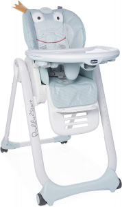 Chicco high chair Polly Froggy 2 Start 91-110 cm steel blue