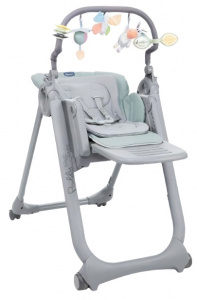 Chicco high chair Polly Magic 85-106 cm steel grey/green