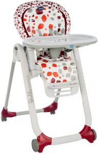 Chicco high chair Polly Progress-589 x 54 cm white/red/orange