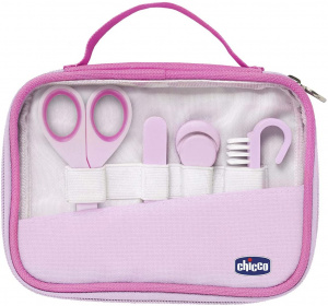 Chicco manicureset meisjes 17 cm polyester roze 10-delig