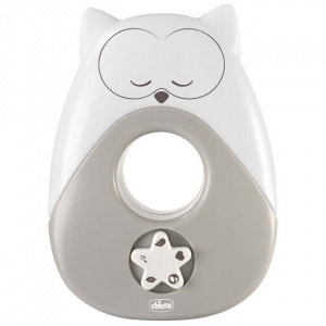 Chicco nachtlamp Sweet Lights Uil junior 15 cm grijs