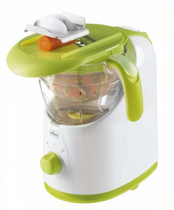 Chicco stoomkoker Easy Meal wit/groen 4-delig