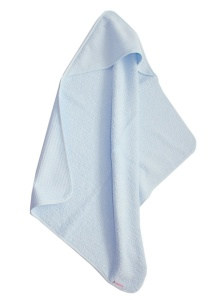 Cottonbaby bath towel Wafelcotton/ terry cloth junior 75 cm light blue