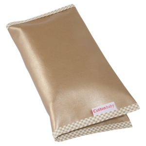 Cottonbaby nappy pouch imitation leather 27 x 16 cm gold