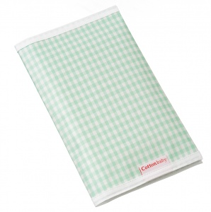 Cottonbaby diaper pouch cotton 27 x 16 cm mint green checkered