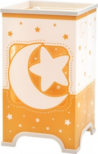 Dalber tafellamp led Moonlight glow in the dark 21,5 cm oranje