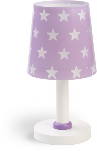 Dalber tafellamp Stars glow in the dark 30 cm paars