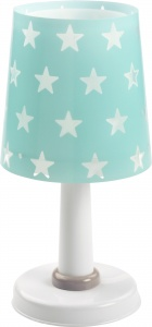 Dalber tafellamp Stars glow in the dark 30 cm turquoise