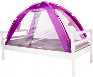 Deryan bedtent junior 150 cm polyester purple/white