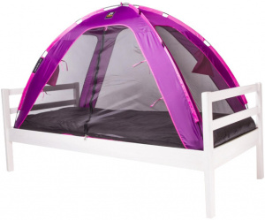 Deryan bedtent junior 150 cm polyester purple/black