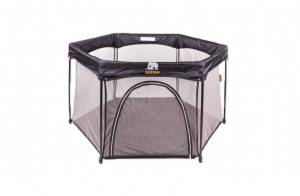 Deryan speelbox Portable PlayPen 135 cm polyester zwart