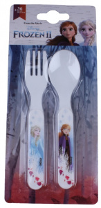 Disney cutlery set Frozen II junior 13.5 x 3 cm white 2-piece