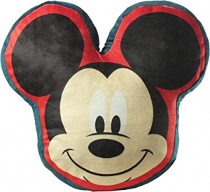 Disney kussen Mickey Mouse 35 cm pluche rood