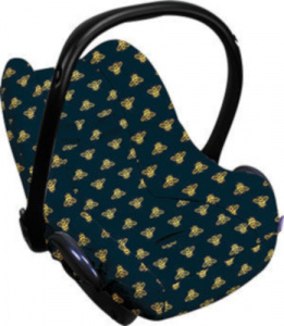 Dooky car seat cover Golden Bee Limited Edition cotton blue