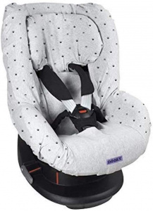 Dooky car seat cover Kroon cotton light grey 2-piece