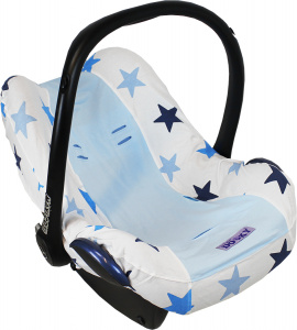 Dooky car seat cover Star cotton blue