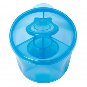 Dr. Brown's melkpoeder dispenser 3 compartimenten blauw