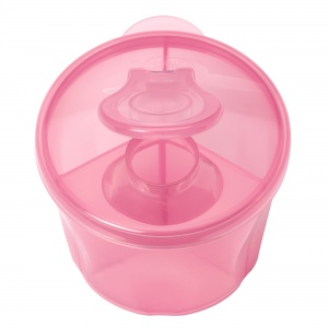 Dr. Brown's melkpoeder dispenser 3 compartimenten roze