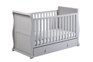 East Coast Alaska 3 in 1 crib, toddler bed and sofa bed grey 156,5 m