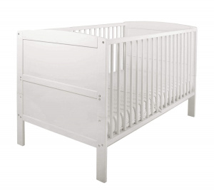 East Coast Hudson 2 in 1 crib and toddler bed white 144,5 cm