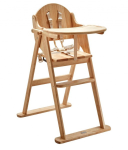 East Coast foldable high chair junior 90 cm wood brown