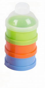 TOM milk powder holder tower green 3 x 90 ml