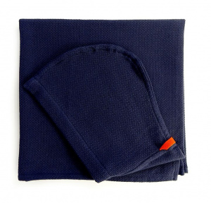 Ekobo children's cape with hood Baño140 x 70 cm cotton blue