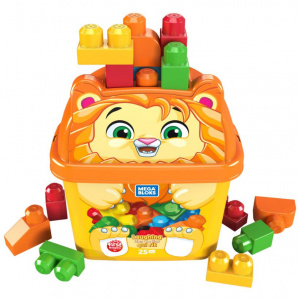 Fisher-Price seau de construction Mega Bloks lion junior 26-pièces
