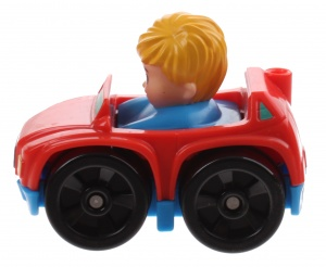 Fisher-Price Little People Wheelies voiture 6.5 cm rouge (DRG94)