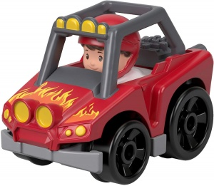 Fisher-Price Little People Wheelies voiture 6,5 cm rouge (FHB95)