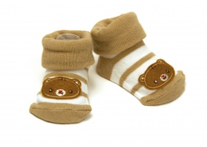 Fisher-Price socks bear brown 0 - 6 months