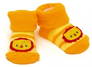 Fisher-Price chaussettes lion orange lion 0 - 6 mois