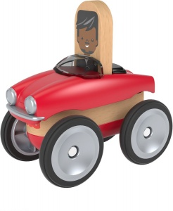 Fisher-Price Wonder Makers car 9 cm red/white 4-piece